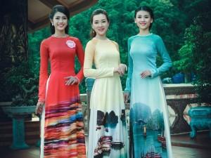 Thời trang - Thi sinh Hoa hậu Biển thướt tha trong tà áo dài