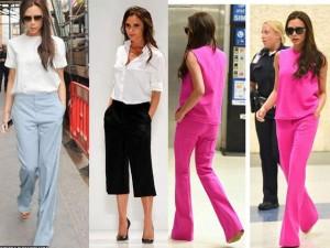 """Victoria Beckham - siêu sao  """" thuần hóa """"  quần ống rộng"""
