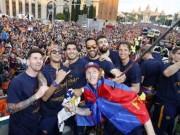 """Bóng đá - Barca ăn mừng rầm rộ: Xứ Catalunya muốn """"vỡ tung"""""""