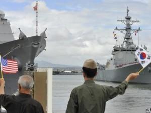 Thế giới - Mỹ, Hàn, Nhật tập trận lớn đánh chặn tên lửa