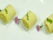 Ẩm thực - Bánh bông lan cuộn chuối mềm xốp, thơm ngọt ăn là mê
