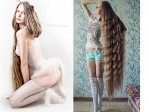 Mỹ nhân Nga nổi tiếng nhờ mái tóc đẹp mê hồn