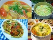 Ẩm thực - Bữa cơm ngon lành với cá thu sốt dưa, canh nấm nấu chua