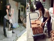"""Bạn trẻ - Cuộc sống - """"Hot girl phụ hồ"""" khiến dân mạng Trung Quốc điên đảo"""