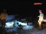 Video An ninh - Phục kích 600 kg nội tạng bẩn tập kết tại nghĩa trang