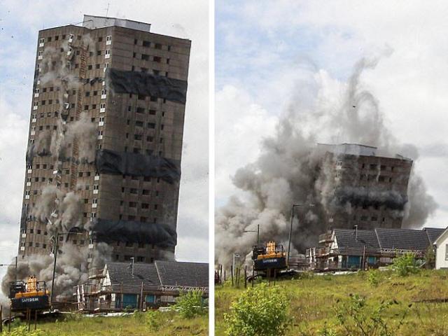 Video: Đánh sập hoàn toàn tòa nhà 25 tầng trong 3 giây