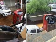 Phi thường - kỳ quặc - Video: Hàng loạt ô tô lao xuống hố tử thần khổng lồ ở TQ