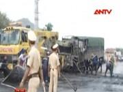 Video An ninh - Vụ cháy xe 12 người chết: Mới nhận dạng được 2 thi thể