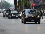 """Tin tức trong ngày - Clip: Cận cảnh dàn xe """"khủng"""" hộ tống TT Obama trên phố HN"""
