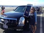 Ô tô - Xe máy - Tài xế lái Cadillac One hộ tống ông Obama là một cô gái