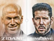 Bóng đá - Real - Atletico: 5 tháng của Zidane, 5 năm của Simeone