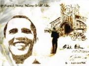Bạn trẻ - Cuộc sống - 9X dùng giấy đốt vẽ tranh tặng Tổng thống Obama