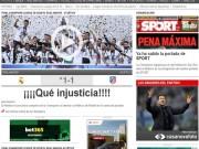Bóng đá - Real vô địch cúp C1, báo chí Barcelona kêu bất công