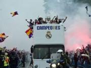 Bóng đá - Thầy trò Zidane trở về Madrid, mở hội cùng biển người