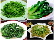 Ẩm thực - Tuyệt chiêu cho 5 món rau xào tỏi xanh mướt, giòn ngon