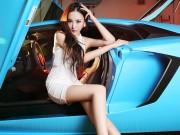 """Ô tô - Xe máy - """"Nữ thần"""" siêu gợi cảm bên Lamborghini Aventador"""
