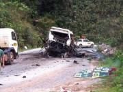 Tin tức trong ngày - Xác định danh tính một số nạn nhân vụ nổ xe khách