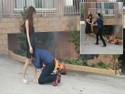 Bạn trẻ - Cuộc sống - Vợ trẻ đốt hàng hiệu, dọa ly hôn chồng đại gia
