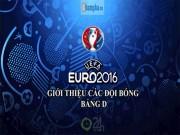 Bóng đá - (Infographic) Tổng quan Euro - Bảng D: TBN gian nan giữ ngai vàng