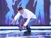 Chàng trai trượt patin 1 chân khiến khán giả ngưỡng mộ