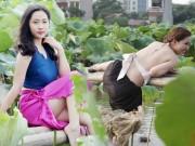 """Bạn trẻ - Cuộc sống - Thiếu nữ Hà thành """"lăn lê bò toài"""" chụp ảnh cùng sen"""