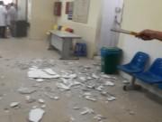 Tin tức trong ngày - Vữa trần rơi trúng đầu 2 mẹ con đi khám tại BV Nhi TƯ