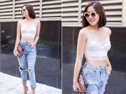 Thời trang - Sao Việt đua vẻ gợi cảm với croptop ren