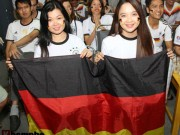 Bóng đá - Fan nữ miền Tây vượt đường xa trong đêm cổ vũ ĐT Đức