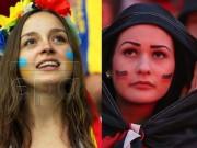 Thời trang - Fan nữ xinh như thiên thần đốt nóng trận Đức - Ukraine