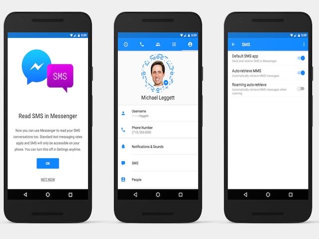 Dùng Facebook Messenger làm ứng dụng quản lý SMS