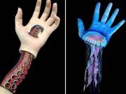 Phi thường - kỳ quặc - Nữ sinh biến cánh tay thành tranh 3D rợn người