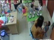 Video An ninh - Đình chỉ cở sở mầm non có cô giáo tát trẻ vì làm rơi thức ăn