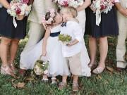 """Bạn trẻ - Cuộc sống - Nụ hôn của cặp đôi 4 tuổi """"gây sốt"""" đám cưới"""