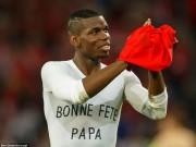 """Bóng đá - Ảnh đẹp Euro 20/6: Pogba chúc mừng """"Ngày của bố"""""""