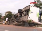 Video An ninh - Thêm một xe khách lật ở Lâm Đồng, 4 người thương vong