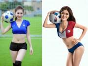 Thời trang - Loạt hot girl, người đẹp Việt sexy bên trái bóng tròn