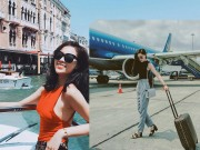 Thời trang - Hoa hậu Kỳ Duyên diện đồ sành điệu đi du lịch