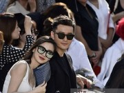Huỳnh Hiểu Minh và Angela Baby tình tứ ở show Givenchy