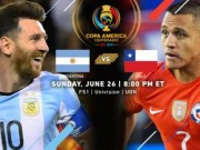 """Bóng đá - Argentina – Chile: """"Trận đấu cuộc đời"""" của Messi (Chung kết Copa America)"""