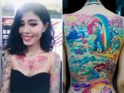 Bạn trẻ - Cuộc sống - Cô gái xinh đẹp phủ kín cơ thể bằng hình xăm hoạt hình