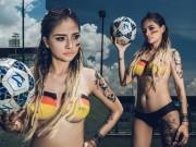 Bạn trẻ - Cuộc sống - Cô gái Đà Nẵng chụp ảnh nude cổ vũ đội tuyển Đức