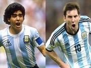 Bóng đá - Messi được bầu chọn vĩ đại hơn Maradona
