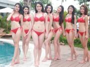 Thời trang - Thí sinh Hoa hậu Bản sắc Việt khoe dáng với bikini