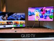 """Samsung TV QLED  """" lên kệ """" : Thiết kế tràn viền, hiển thị siêu nét"""