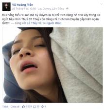 Ca nhạc - MTV - Sao Việt tung ảnh dáng ngủ xấu bênh vực Kỳ Duyên