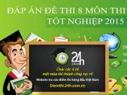 Tuyển sinh 2016 - Đáp án đề thi tốt nghiệp THPT Quốc gia 2015 chính thức của Bộ Giáo dục