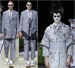 Thời trang nam - Khi mẫu nam hoá geisha, đi lại như... hồn ma