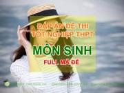 Tin tức Việt Nam - Cập nhật Đáp án đề thi Môn Sinh tốt nghiệp THPT Quốc Gia năm 2015