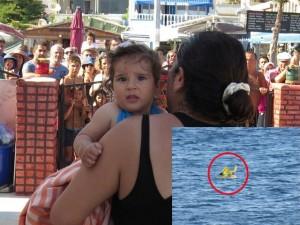 8X + 9X - Bé 10 tháng tuổi trôi ra giữa biển vì bố mẹ bất cẩn