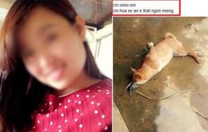 Bạn trẻ - Cuộc sống - Cô gái đăng ảnh giết chó ăn sinh nhật lên Facebook gây xôn xao dân mạng
